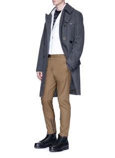 Lanvin Cotton twill biker pants
