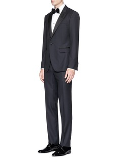 Lanvin Silk satin trim wool tuxedo suit