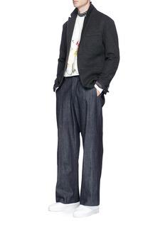LanvinBrushed jersey soft blazer
