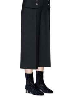 Robert Clergerie 'Plopt' cube heel textured velvet ankle boots