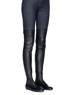 Robert Clergerie 'Guepe' thigh high leather sock boots
