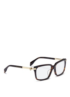Alexander McQueen Skull stud tortoiseshell acetate optical glasses