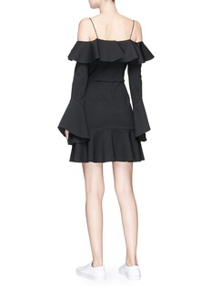 Nicholas 'Ponti' ruffle off-shoulder jersey peplum mini dress