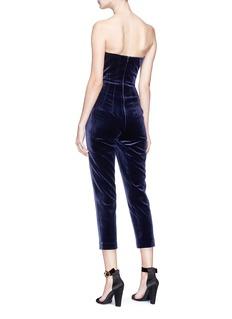 Nicholas Strapless velvet cropped jumpsuit