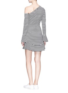 Nicholas 'Ponti' stripe one-shoulder dress
