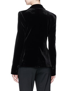 Nicholas Single breasted velvet blazer