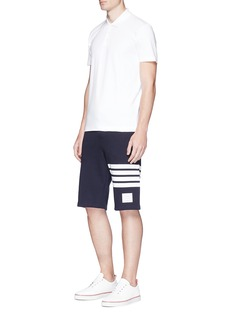 Thom Browne Stripe leg cotton sweat shorts