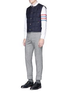 Thom Browne Stripe sleeve button down cotton Oxford shirt