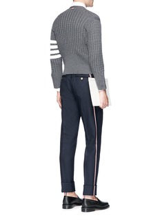 Thom Browne Selvedge outseam twill pants