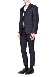 Thom Browne Selvedge stripe sleeve twill blazer