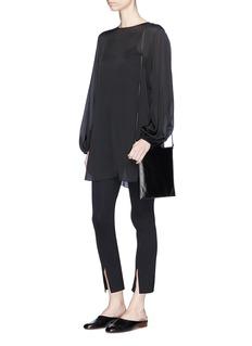 The Row'Latou' open back tie silk blouse