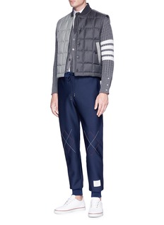 Thom Browne Argyle stitch sweatpants