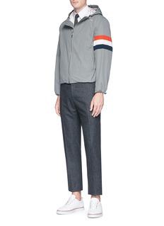 Thom Browne Tricolour panel zip hoodie