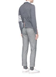 Thom Browne 'Trompe-l'œil' mock cardigan back cashmere sweater