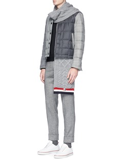Thom Browne Quilted wool patchwork down jacket