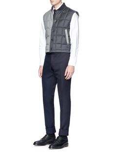 Thom Browne Basketweave and cavalry twill patchwork pants