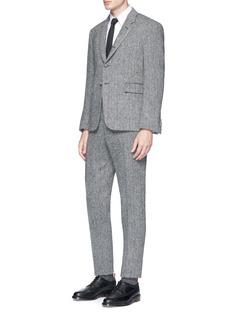 Thom Browne Wool herringbone Harris tweed pants