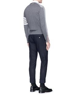 Thom Browne 'Trompe-l'œil' mock sweater back cashmere cardigan