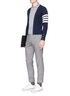 Thom Browne 'Trompe-l'œil' mock polo cashmere sweater