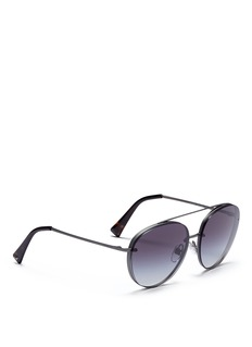 Valentino Mounted lens metal aviator sunglasses