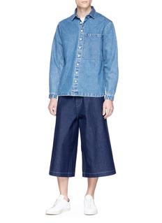 Wan Hung Raw denim cropped wide leg pants