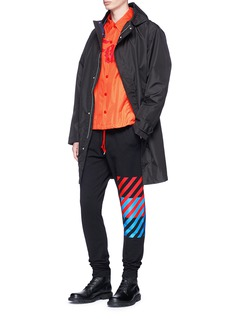 Wan Hung Block stripe print sweatpants