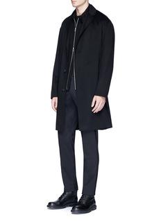 Theory Cashmere melton long coat