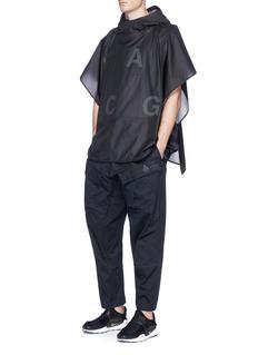 NikeLab 'ACG' Packable logo print nylon poncho