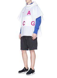 NikeLab'ACG' Packable logo print nylon poncho