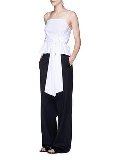Elizabeth and James 'Montgomery' wraparound sash tie cotton poplin sleeveless top