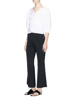 Elizabeth and James 'Carel' cropped stretch jersey flared pants