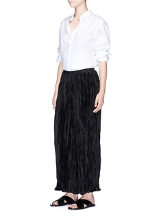 Elizabeth and James 'Cresent' crinkle pleated culottes