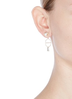Venna Detachable drop mismatched eye and lips earrings