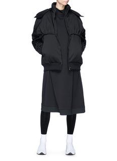 Y-3 Detachable hood down jacket