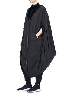 Y-3 'Novelty' fleece-lined poncho