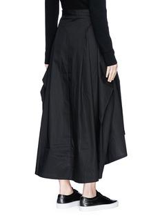 Y-3 High low poplin skirt