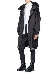 OAMC Detachable down hood coated parka