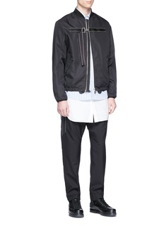 OAMC Buckled strap twill bomber jacket