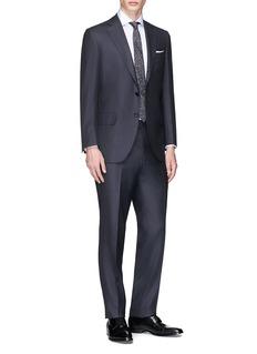Tomorrowland Eremengildo Zegna Shang Micronsphere® twill suit