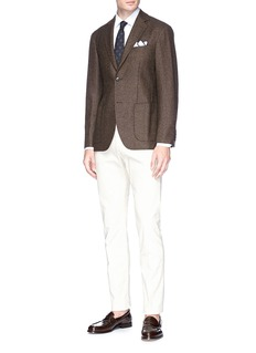 Tomorrowland Wool basketweave soft blazer