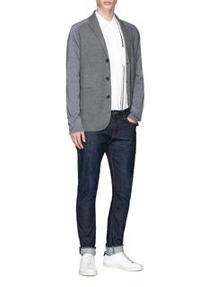 Tomorrowland Stripe knit panel shirt