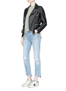 rag & bone/JEAN'10 Inch Stove Pipe' cropped skinny jeans