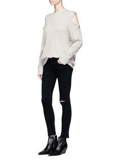 rag & bone/JEAN'Capri' cropped ripped skinny jeans