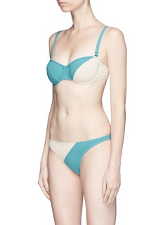 Flagpole Swim Electra' colourblock bandeau top