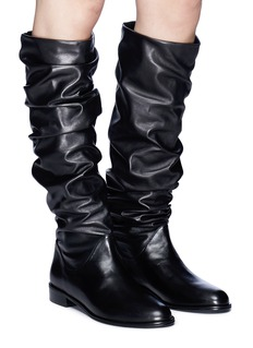 Stuart Weitzman 'Flats Crunchy' slouchy leather knee high boots