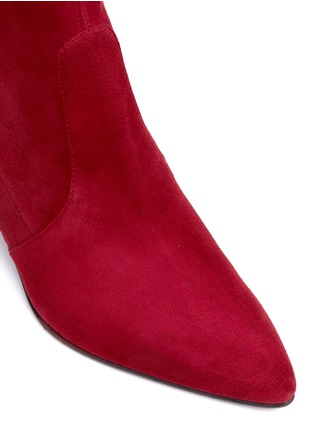 Detail View - Click To Enlarge - Stuart Weitzman - 'Cling' stretch suede ankle boots