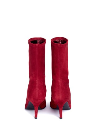 Back View - Click To Enlarge - Stuart Weitzman - 'Cling' stretch suede ankle boots