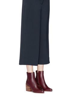 Gabriela Hearst 'Tito' streak effect wood heel leather ankle boots
