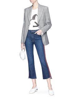 MOTHER 'Insider Crop Step Fray' racing stripe skinny jeans