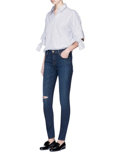 J Brand '620' ripped stretch skinny denim pants